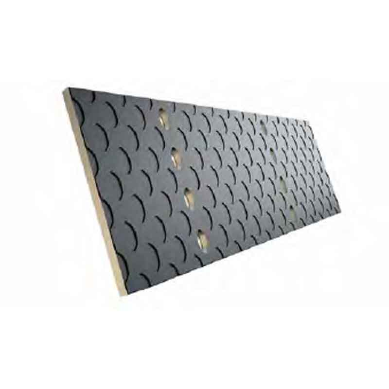 Rubber-coated perforated blades